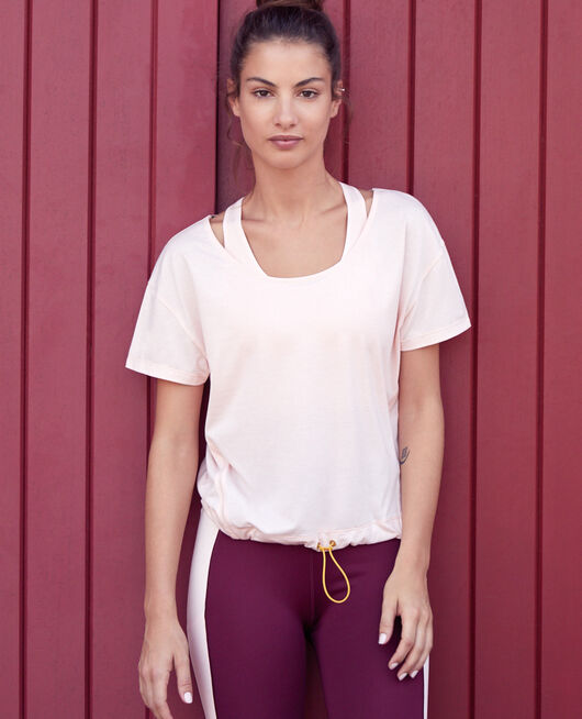 Sports short-sleeved t-shirt Pink cloud Yoga