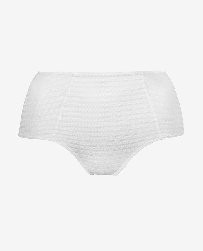 Culotte taille haute Blanc Rayures
