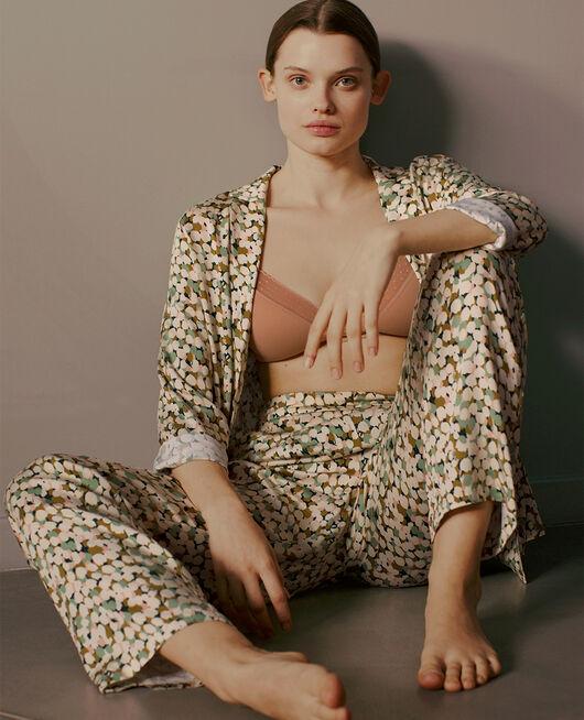 Veste de pyjama Tulipe vert jardin Attitude imprime
