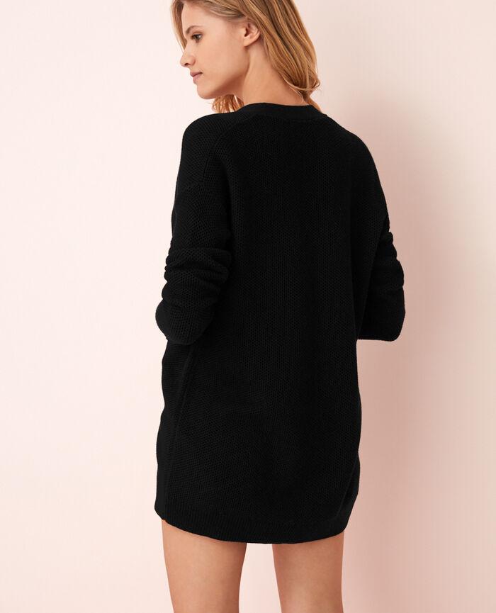 Long-sleeved cardigan Black Cachou