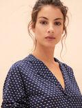 Veste de pyjama Piaf bleu Latte