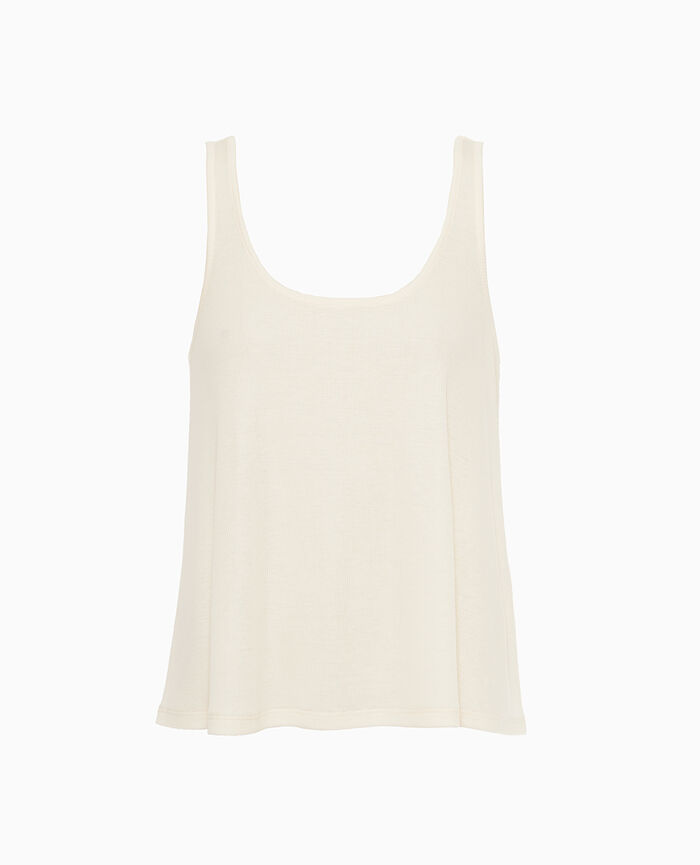 Vest top Rose white Latte rib