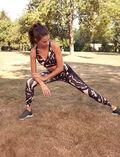 Legging de running galbant long Palme multicolore Run