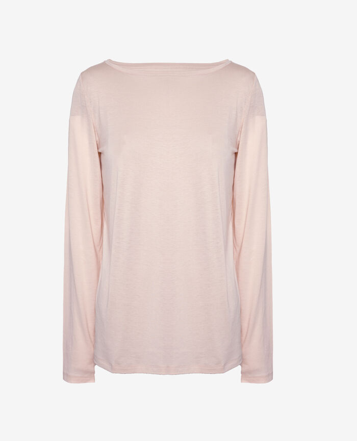 T-shirt manches longues Rose nuage Latte organic