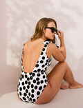 Swimsuit Ivory polka dots Pois
