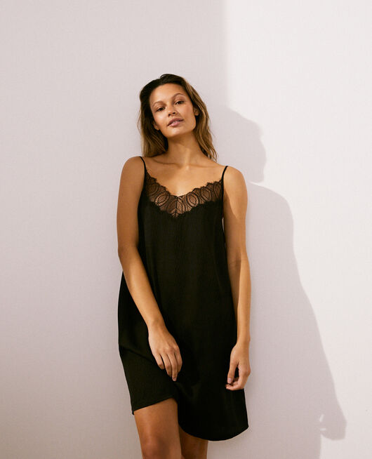 Short nightie Black Fancy