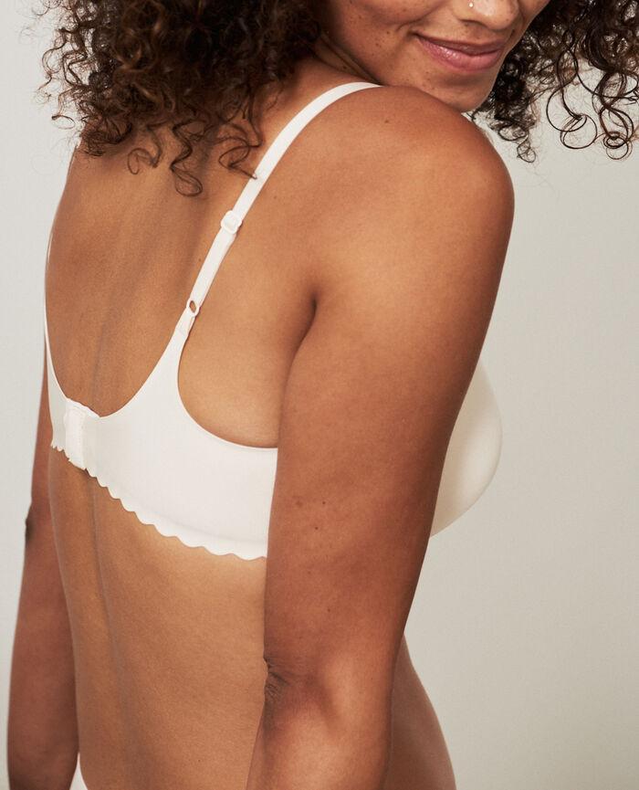 Soutien-gorge triangle moulé sans armatures Blanc rosé Secret