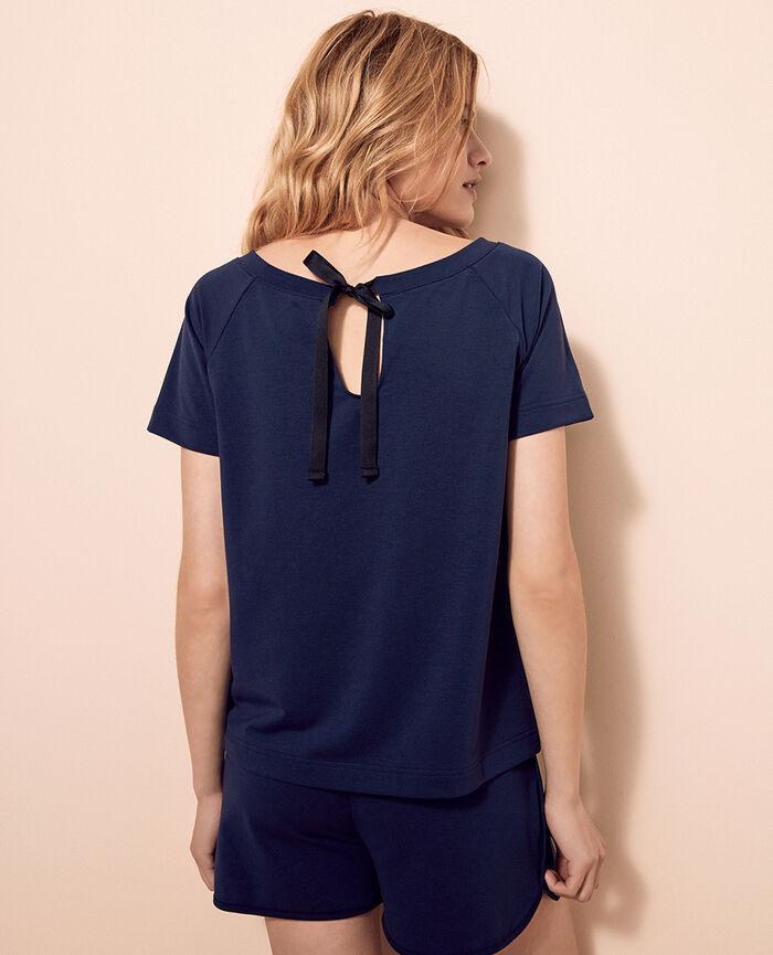 T-shirt manches courtes Bleu marine Air loungewear