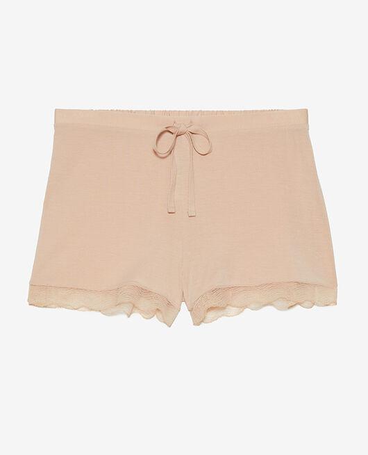 Short de pyjama Beige poudre Douceur