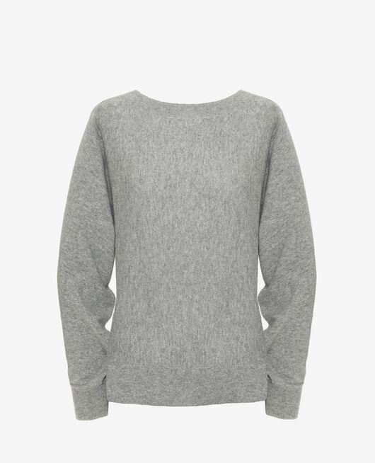 Boatneck jumper Grey Icone
