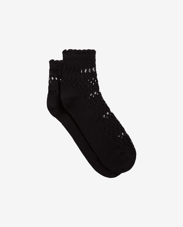 Chaussettes Noir Kawai