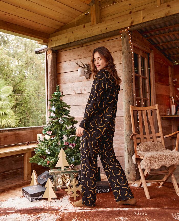 Set pyjama Surreau noir Flanelle
