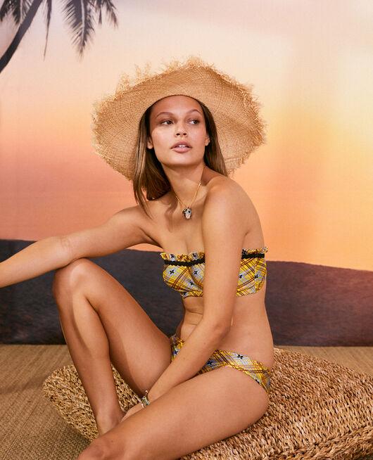 Underwired strapless bikini top Scarf yellow Vacanze