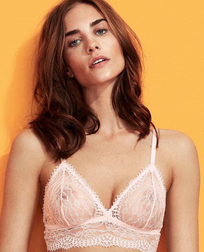 Soft cup bra Pink Chantilly