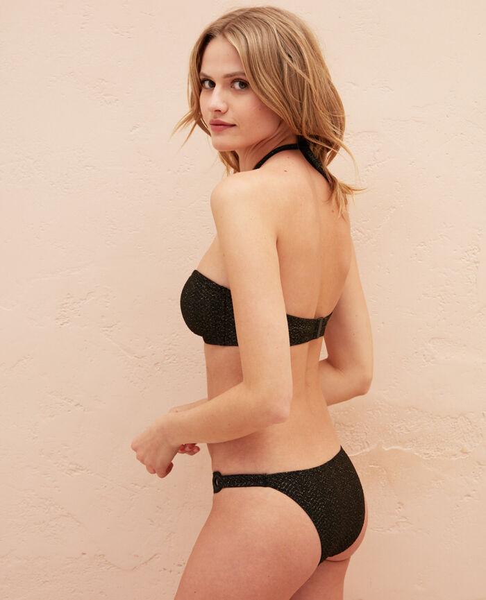 Padded strapless bikini top Black Lalla