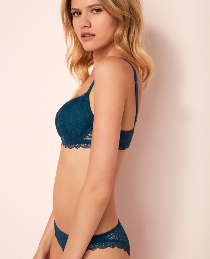 Soutien-gorge push-up mousses Bleu sombrero Love
