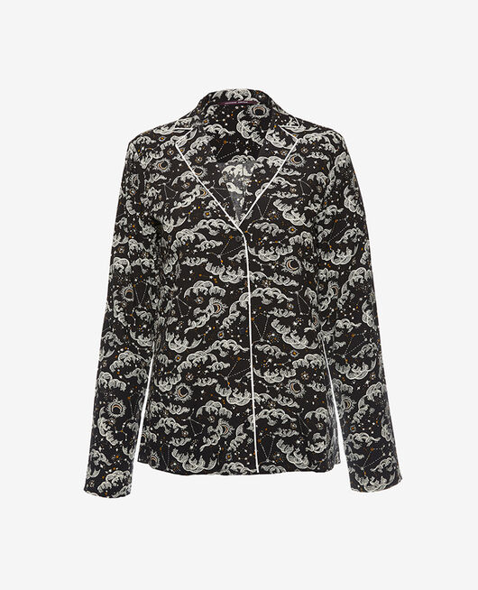Pyjama jacket Astre black Constellation