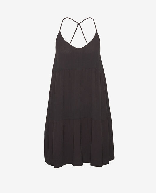 Robe Noir Crepe viscose