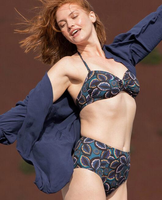 Padded strapless bikini top Blue wax Wax