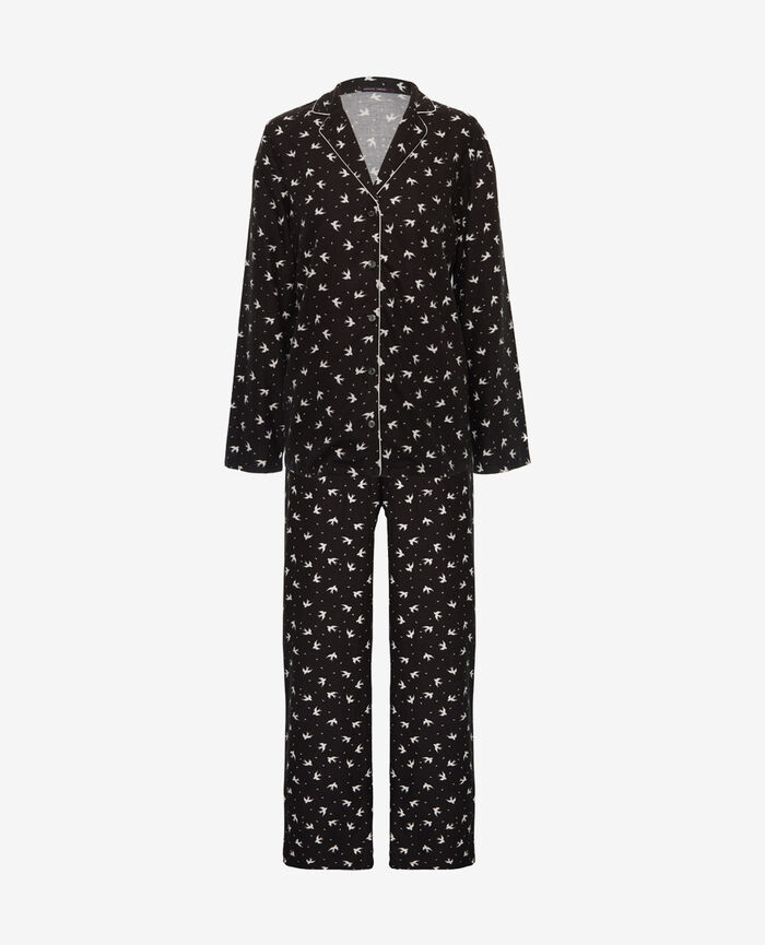 Pyjama set Gray birds Princesse tam.tam x uniqlo