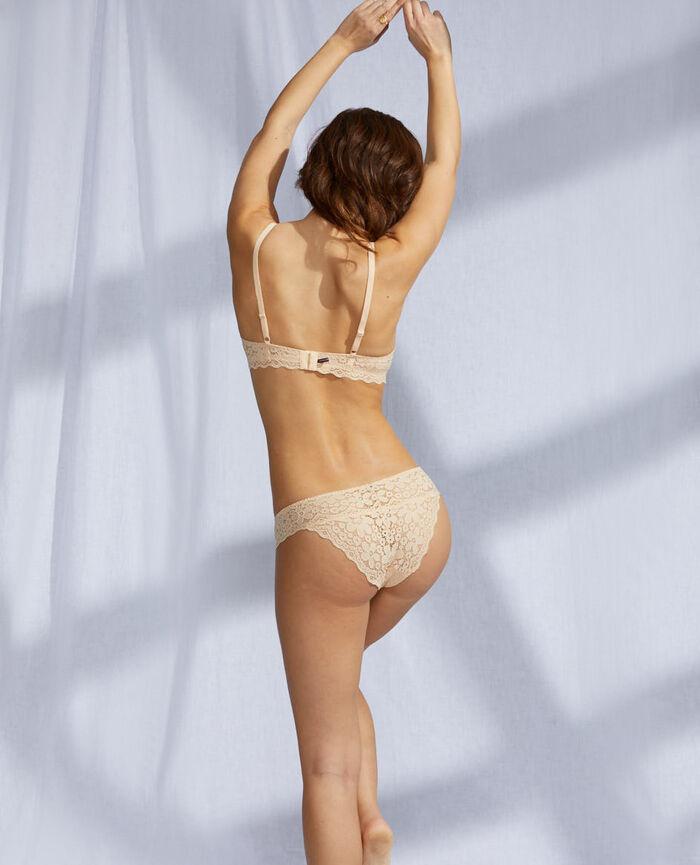 Culotte échancrée Beige nude Paquerette