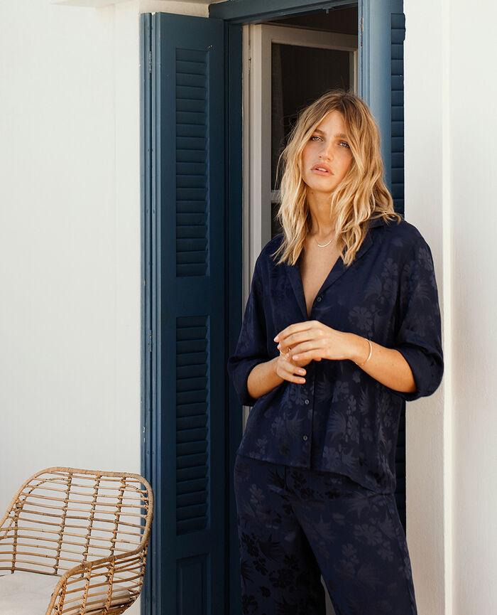 Pyjama jacket Navy Menara