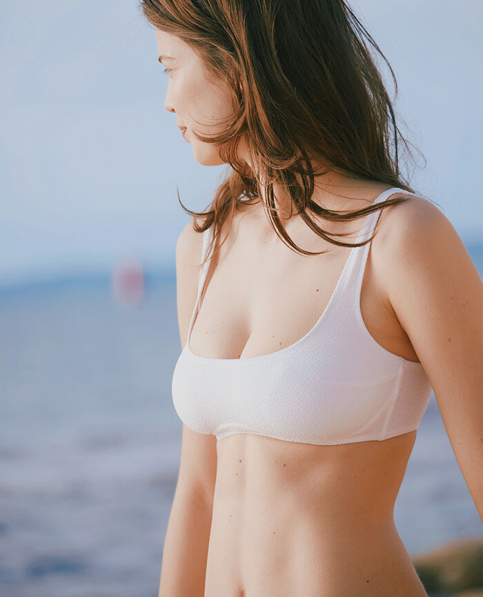 Wireless racer-back bikini top Ivory Divine