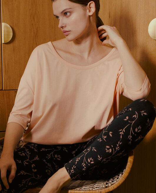 Long-sleeved t-shirt Flecked pink Top collection