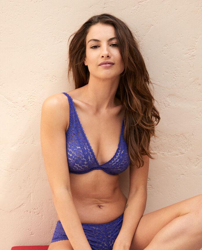 Soutien-gorge triangle avec armatures Bleu gouache Monica