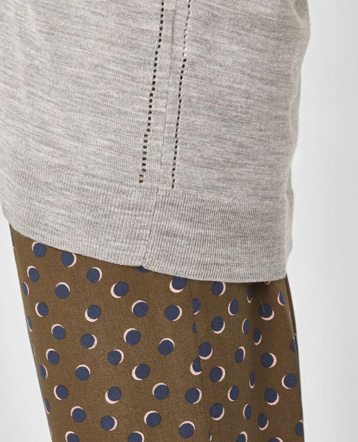 V-neck jumper Flecked grey Extra