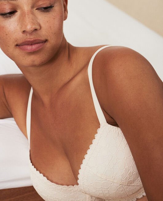 Soutien-gorge push-up mousses Blanc rosé Josephine