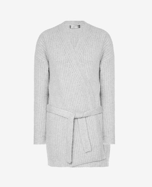 Long-sleeved cardigan Light grey Moka