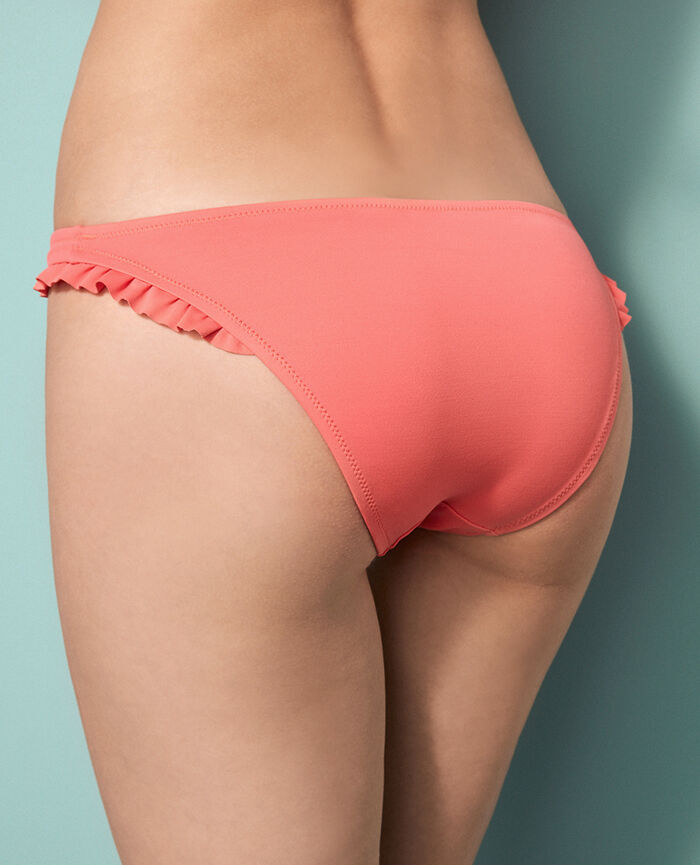 High-cut bikini briefs Coral orange Princesse tam.tam x uniqlo
