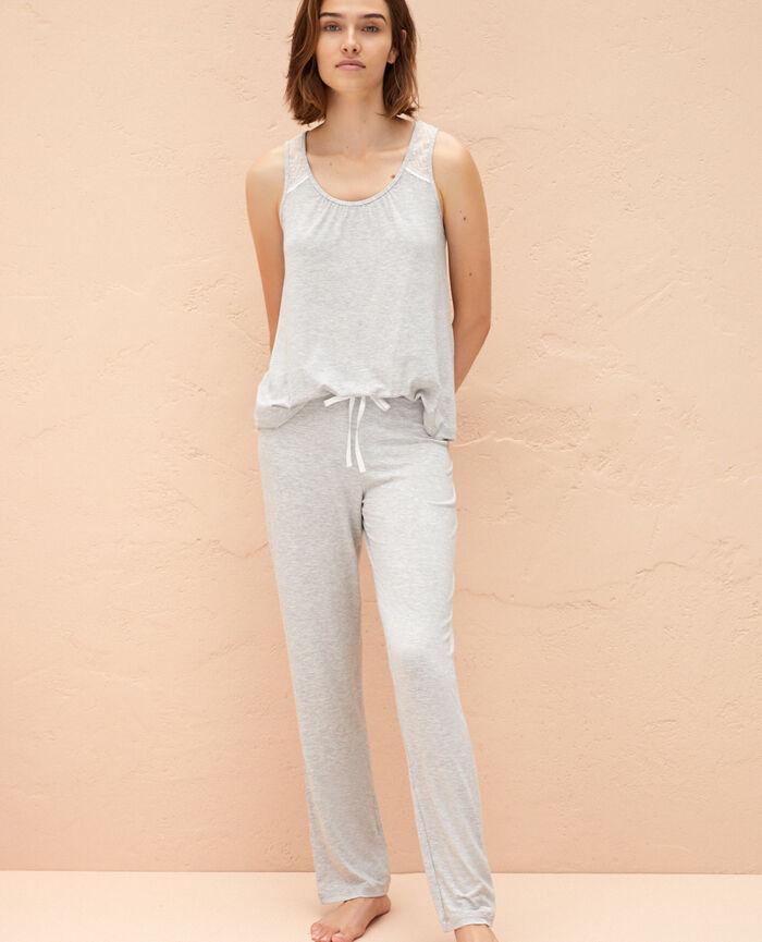 Pantalon de pyjama Gris chiné Douceur