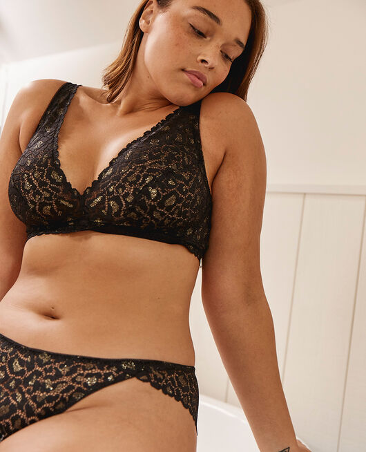 Soft cup bra Black Feline