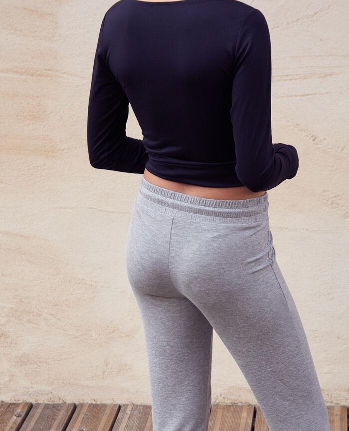 T-shirt de sport manches longues Noir Yoga