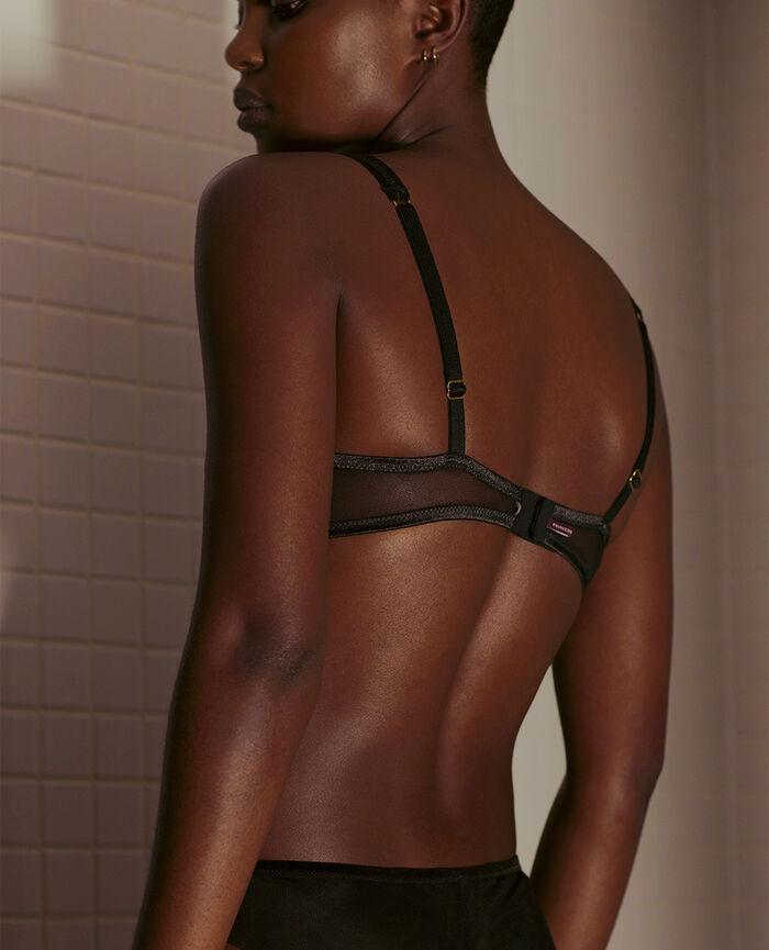 Underwired triangle bra Black Pure