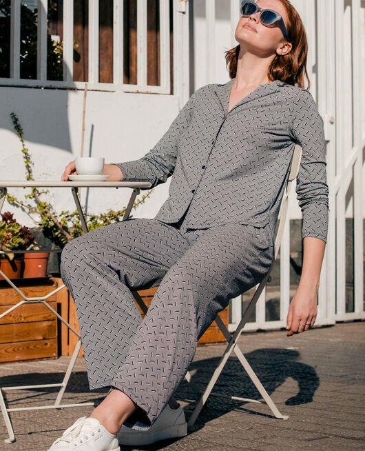 Veste de pyjama Susanna bleu marine Dimanche print