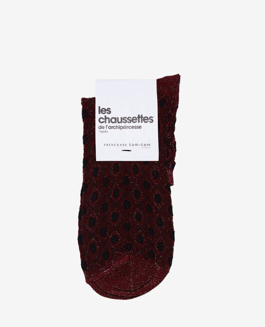 Chaussettes Rouge cassis Jazz