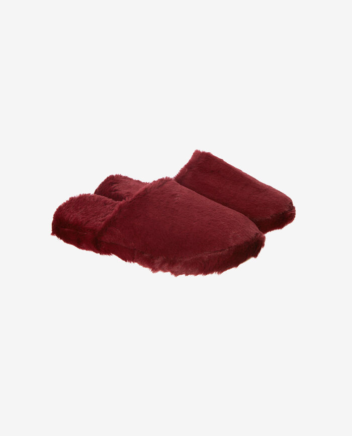 Chaussons Rouge cuir Oscar