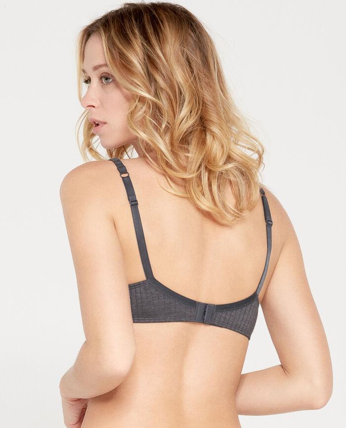 Soft push-up bra Flecked grey Infinity