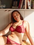 Soutien-gorge corbeille Rouge camelia Chic