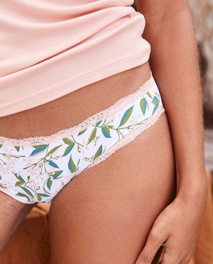 Culotte taille basse Jasmin blanc rose Take away