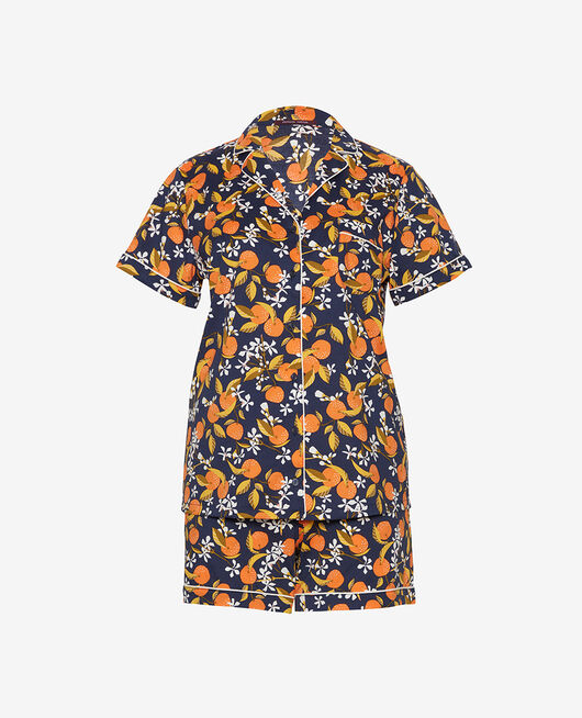 Pyjama set Navy blue orange trees Tutti frutti