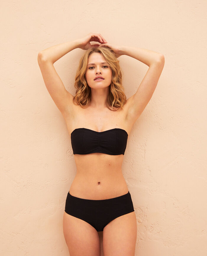 Underwired strapless bikini top Black Niala
