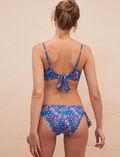 Wireless bandeau bikini top Flower blue Princesse tam.tam x uniqlo