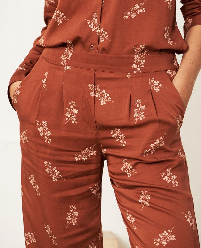 Pantalon Trésor ginger bread Attitude imprime