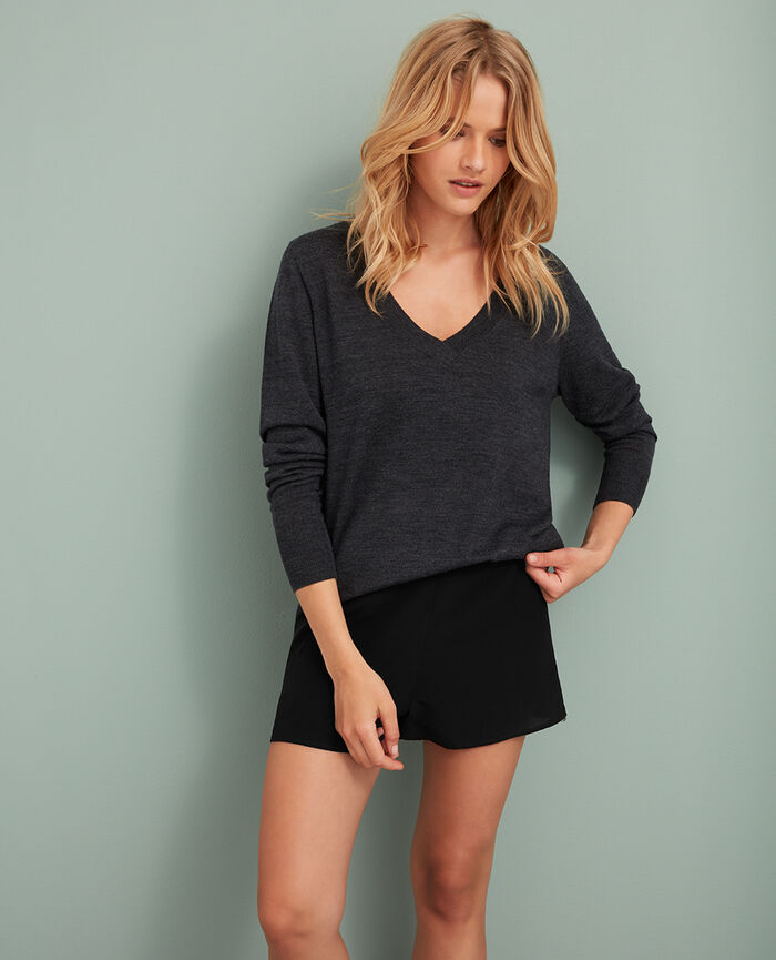 Pull col v Gris anthracite Extra