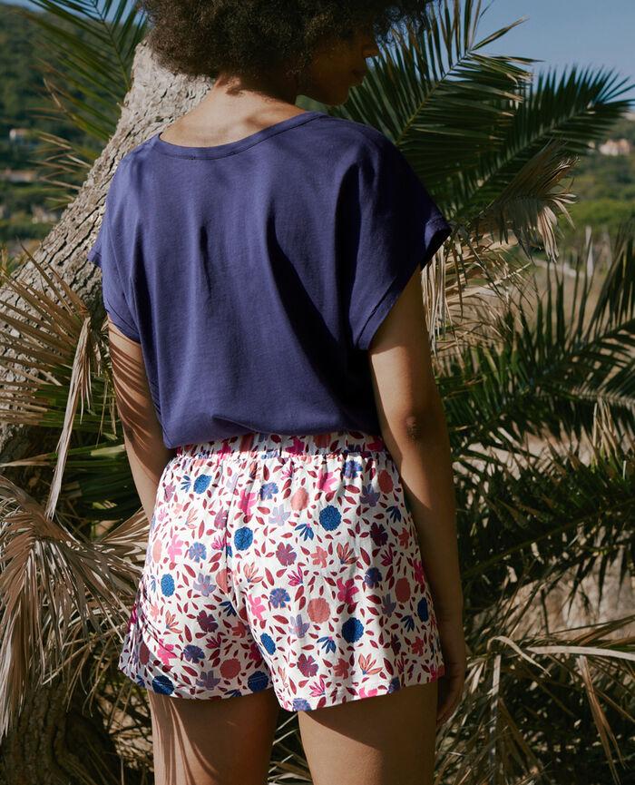 Pyjama shorts Ivory gardenia Tam tam shaker