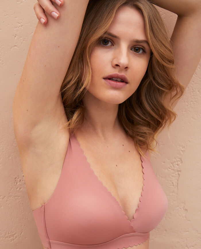 Soft cup bra Dune pink Secret